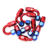 8AN 16-Foot Universal Silver Fuel Pipe 10 Red and Blue Connectors | 66827087