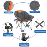 Sofa Chair, Oversize Padded Moon Leisure Portable Stable Comfortable Folding Chair for Camping, Hiking, Carry Bag | 21565581