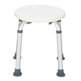 Aluminum Alloy Lift Bath Chair 8-Speed / PE Stool / Rubber Foot Mat White | 80978449