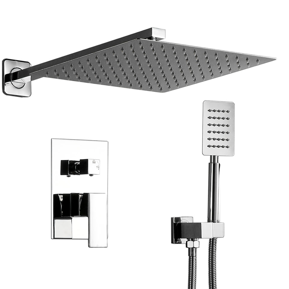 Stainless Steel Shower Set 12 Inch Top Shower-Silver | 78103778