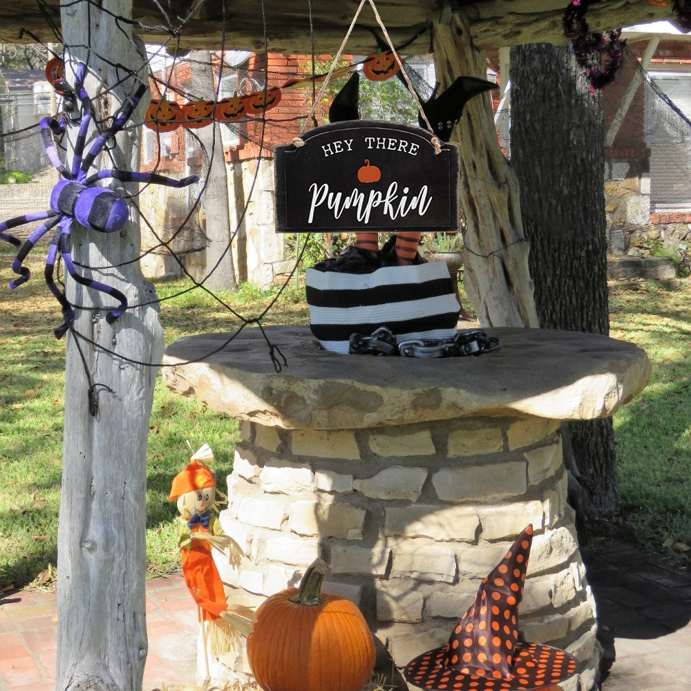 Artisasset HEY THERE PUMPKIN Halloween Hanging Sign Holiday Wall Sign | 80020281