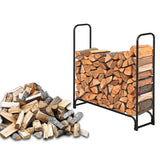 Artisasset Black Sand Pattern Single Layer 4 Feet Long 46 Inches High Indoor And Outdoor Wrought Iron Fireplace Firewood Stand | 56747026