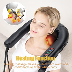 Real Relax  Shiatsu Neck Massager with Heating Massage for Neck, Back, Shoulder, Foot, and Legs