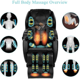 [Canada Only] Favor-03 Real Relax 2019 Massage Chair, Full Body Zero Gravity Shiatsu Recliner with Foot roller and Heat