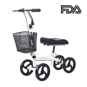 Foldable Knee Scooter for People Below 5' Tall White by Elenker™