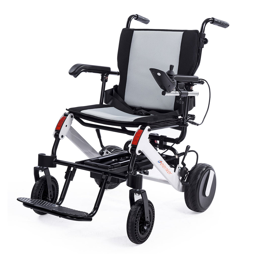 DY01106 2020 Electric Wheelchair, Foldable Power Wheel Chair with Retractable Handle for Travel Outdoor