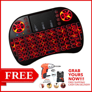 PORTABLE WIRELESS KEYBOARD WITH FREE WIRELESS SCREW DRIVER