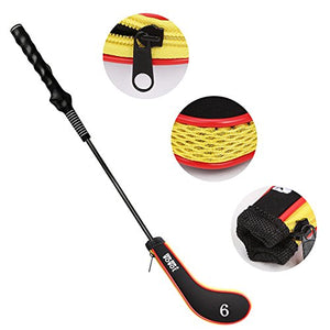 10L0L Neoprene Zippered Golf Club head Iron Covers - Set of 10 black and yellow