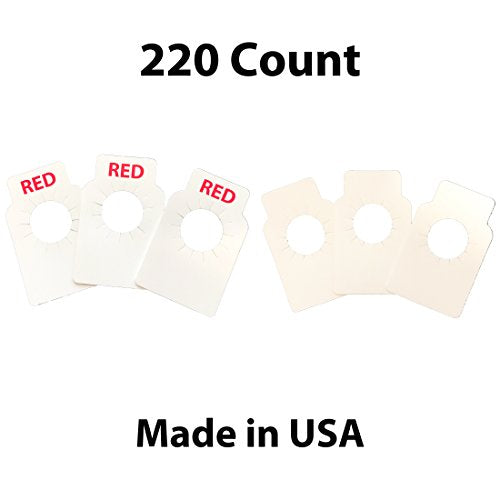 Red and White wine bottle paper hang tags - 110 pieces each color - made in USA