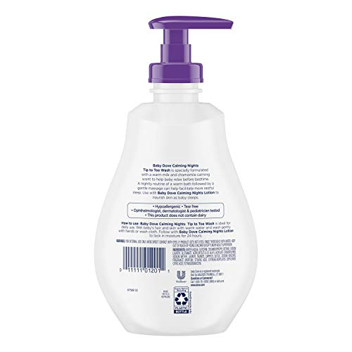 Baby Dove Tip to Toe Wash and Shampoo Calming Nights 13 oz