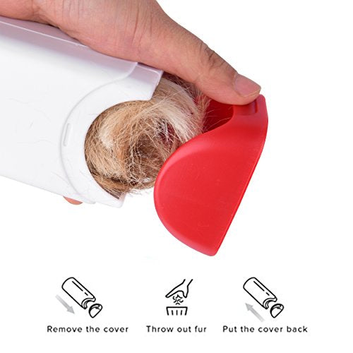 Pet Hair Remover With Self-Cleaning Base, Reusable, Double-Sided, Cat & Dog Hair