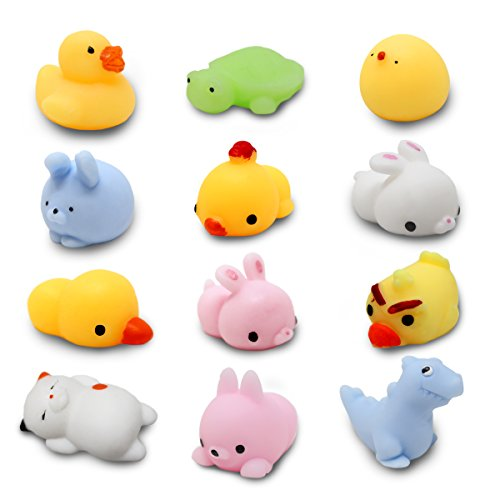 Joyin Toy Mochi Squishy Prefilled Easter Eggs w/ Toys Inside Pack of 12 Pieces