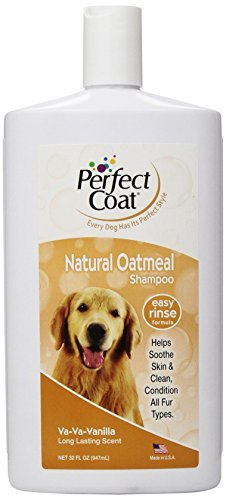Perfect Coat Natural Oatmeal Shampoo for Dogs, 32 Ounce Bottle, French Vanilla by Perfect Coat