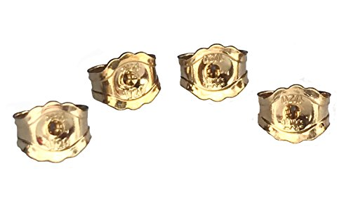 6-Piece 14K Yellow Gold Earring Backs Replacement Earring Backs