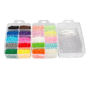 20,000 Fuse Beads - 20 colors 5 Glow in the Dark, Tweezers, Peg Boards, Ironin