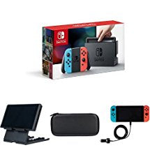 Nintendo Switch - Neon Blue and Red Joy-Con Console & Accessories Bundle