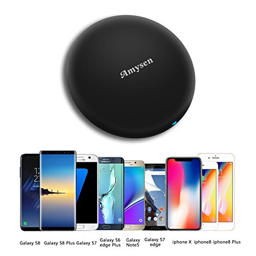 Wireless Charger Amysen Wireless Charging Pad for iPhone X, IPhone 8 / 8 Plus S8