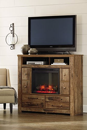 Ashley Furniture Signature Design - Small Electric Fireplace Insert - Includes I