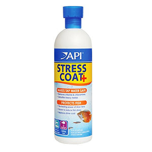 API STRESS COAT Aquarium Water Conditioner 16-Ounce Bottle