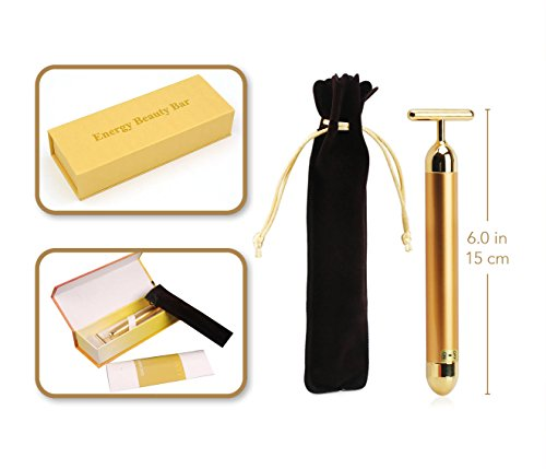 Arishine 24k Golden pulse facial massager, Instant Face Lift, Anti-Wrinkles,Skin