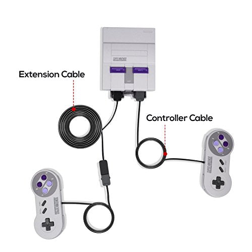 PECHAM 10ft/3M 2-PACK SNES Classic Controller Extension Cable, Super NES Classic