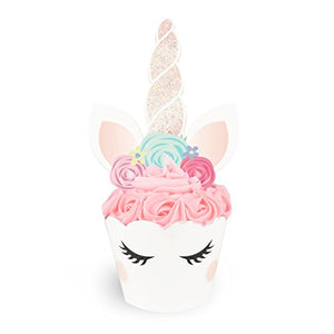 Unicorn Cupcake Toppers + Wrappers | Birthday Party Supplies, Unicorn Horn Cake