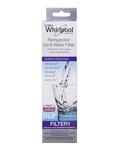 2 Pack Whirlpool W10295370A, Filter 1 Refrigerator Water Filter Set