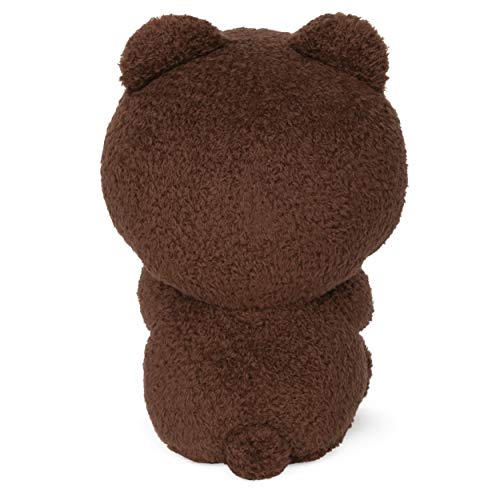 GUND Line Friends Brown Seated Plush Stuffed Animal Bear, Brown, 7""
