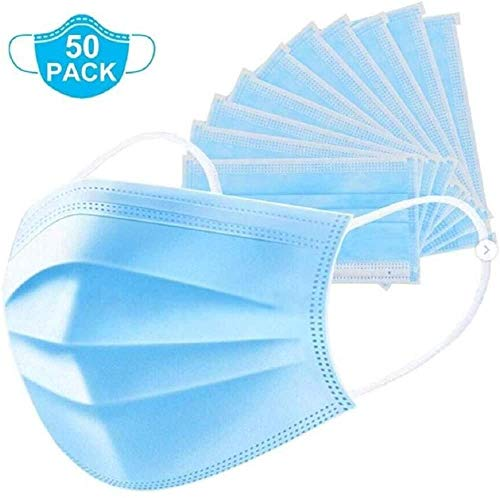50 x 3 PLY non-woven Disposable Surgical Face Masks with Earloops