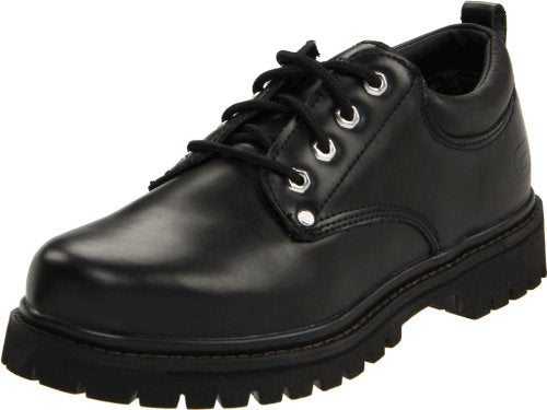 Skechers USA Men's Alley Cat Utility Oxford,Black Smooth,11 M US