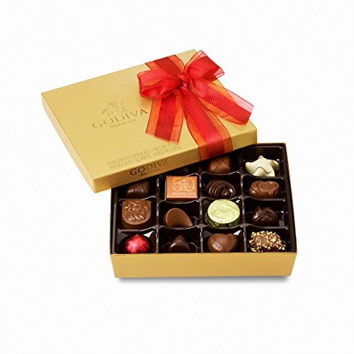 Godiva Chocolatier Valentines Day Gold Ballotin Assorted Gourmet Chocolates 19