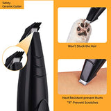 MaikcQ Dog Clipper Grooming Kit Small Dogs Cats Cordless USB Rechargeable Low Noise Electric for Hair Around Face Paws Eyes Ears Rear (Black)