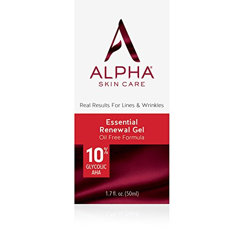 Alpha Skin Care - Essential Renewal Gel, 10% Glycolic AHA, Real Results for and
