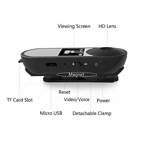 IDV Mini Camera, Hidden Spy Camera with Viewing Screen, Voice Recorder, Sport Ca