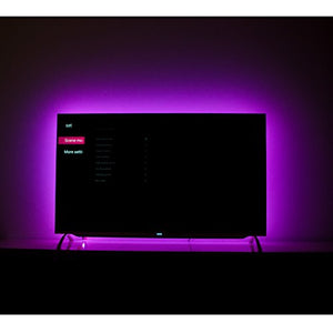 LED TV Backlight for 70 75 82 85 Inch, S-style USB LED Light Strip Behind TV Bias Lighting. 18ft, RF Remote, 20 Colors, 22 Modes, (Custom Version)