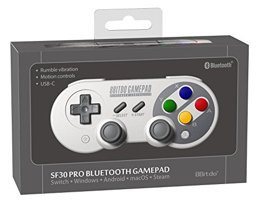 8Bitdo SF30 Pro Controller Windows, macOS, & Android - Nintendo Switch