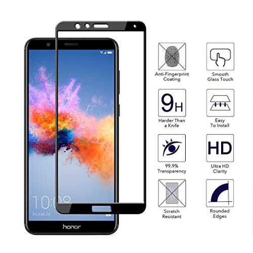 [2 Pack] Orzero For Huawei Honor 7X / Huawei Mate SE Tempered Glass Screen Protector, 2.5D Arc Edges 9 Hardness HD Anti-Scratch [Lifetime Replacement Warranty]