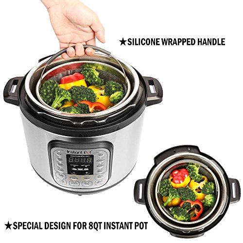 Aozita Steamer Basket for Instant Pot Accessories 8 Qt - Stainless Steel Steam 8