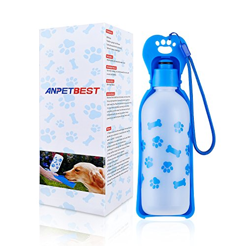 ANPETBEST Portable Travel Water Dispenser Mug for Dogs & Cats 325mL BPA Free