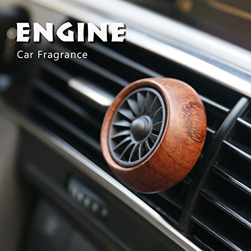 Car Fragrance Diffuser Air Freshner Vent Clip w/ 3 Refill Oil Pads Rosewood