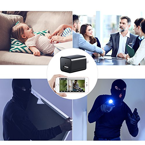 1080P WiFi Mini Camera-SOOSPY Indoor USB Wall Charger Camera/Pet Camera/Nanny