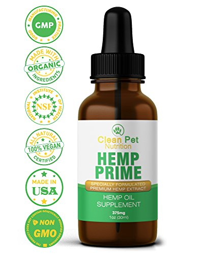 Hemp Oil For Dogs & Cats 375mg - USA Veterinarian Formulated Organic Hemp Oil &
