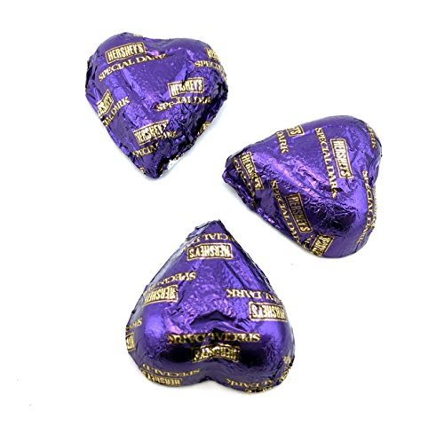 Hersheys Valentines Hearts Dark Chocolate Candy, Purple, Bulk Pack Pack of 2