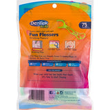 DenTek Kids Fun Flossers | Removes Food & Plaque | 75 Count (Pack of 6)