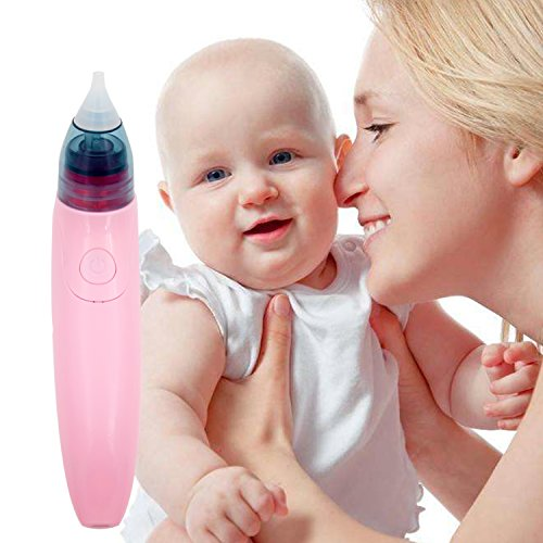 Baby Nasal Aspirator Nose Cleaner with 2 Sizes of SILICONE Tips Easy Safe BPA