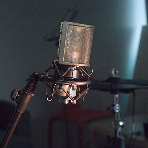 Mugig Mic Shock Mount with Pop Filter for Vocal Recording and Radio Anti Mic for