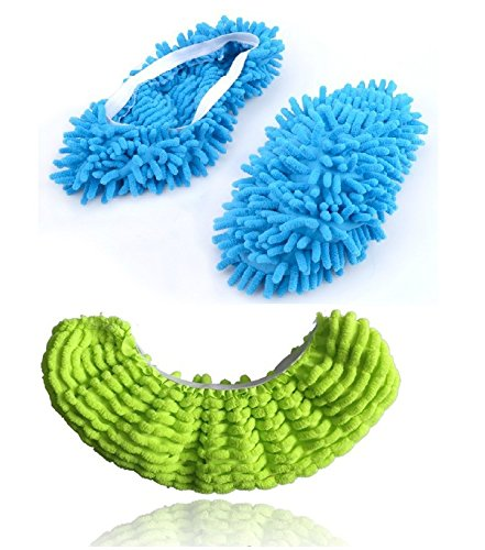 6pcs (3 Pairs) Mop Slippers Shoes Cover, Soft Washable Reusable Microfiber Foot Socks Floor Dust Dirt Hair Cleaner for Bathroom Office Kitchen House Polishing Cleaning