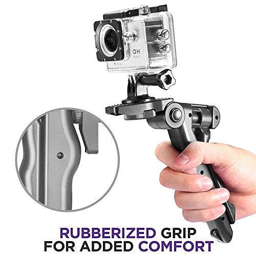 Guojia Portable iPhone Camera Tripod Stand Holder, Adjustable Mini Tripods Mount