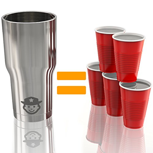 Insulated Beverage Tumbler 30 oz Stainless Steel Travel Mug Cup Coffee Thermos