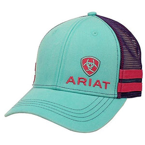 Ariat Women's Offset Logo Snap Back Cap, Turquoise, OS